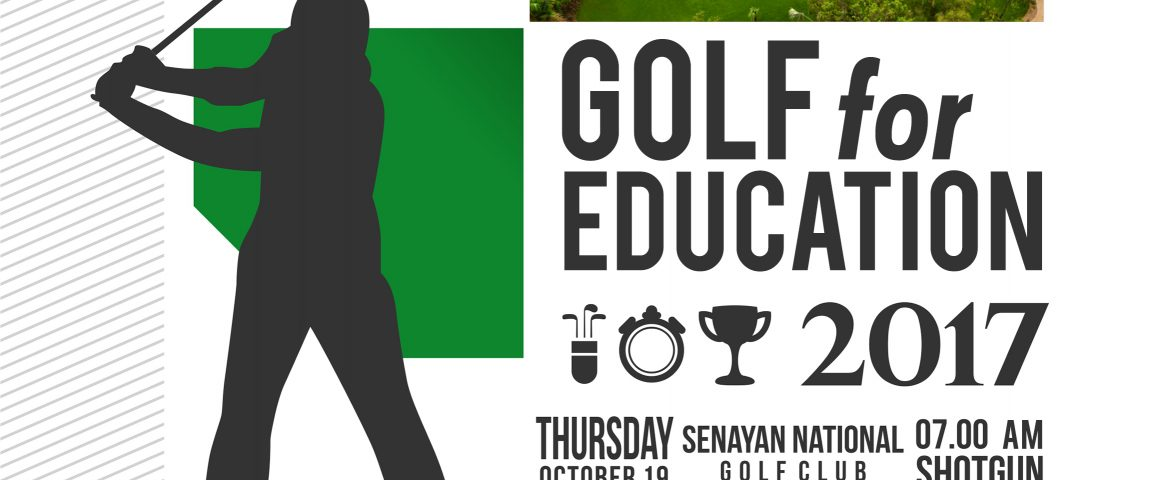 TURNAMEN GOLF FOR EDUCATION, 19 OKTOBER  17
