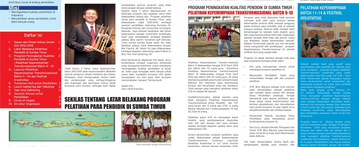 NEWSLETTER VOLUME 7, SEMESTER 1-2, 2014