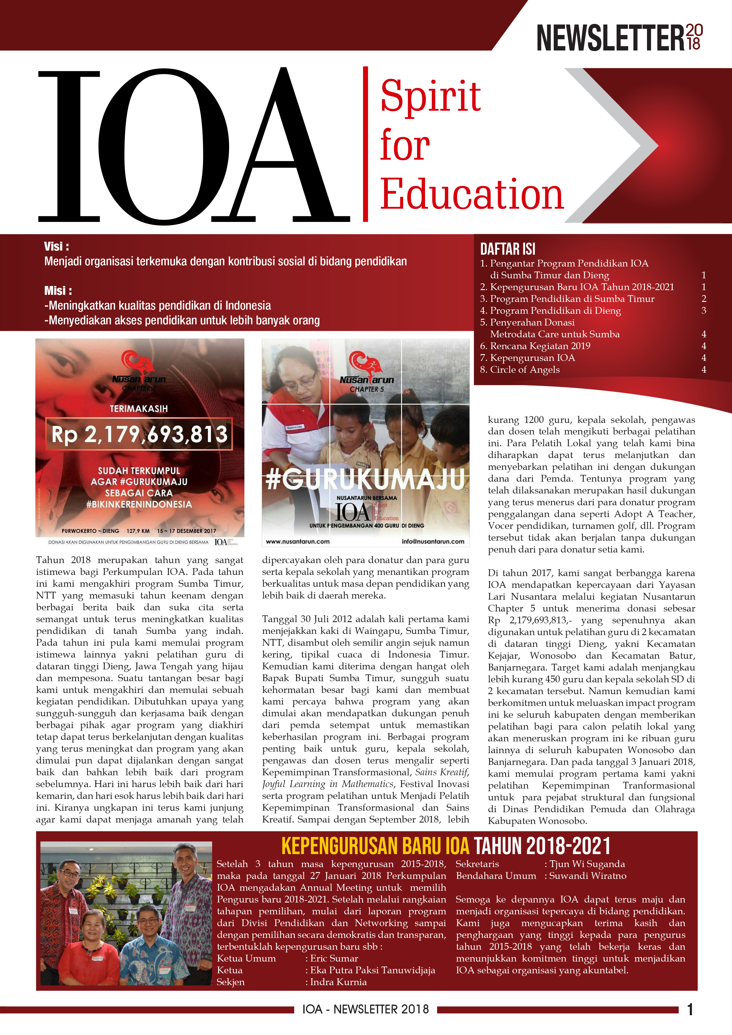 NEWSLETTER VOLUME 11, SEMESTER 1-2, 2018
