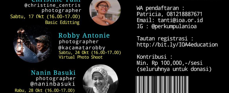 WORKSHOP FOTOGRAFI DARING UNTUK DONASI PENDIDIKAN, OKTOBER 2020